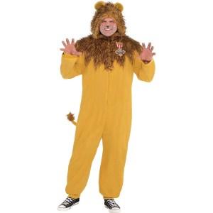 cowardly lion onesie halloween costume