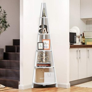 Tangkula Corner Ladder Bookcase, best ladder bookcase