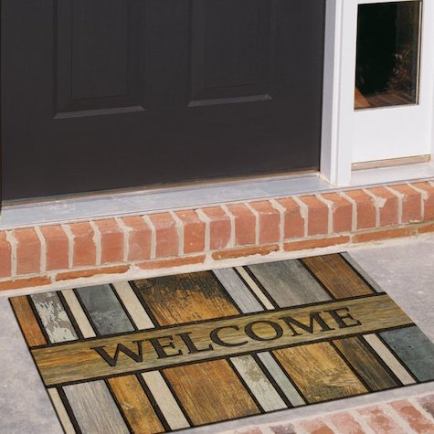 """Mohawk Welcome Homestead Planks Doorscapes Recycled Rubber Doormat 23"""" x 35"""""""