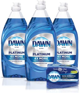 dawn liquid dish soap, how to get grease stains out of clothes