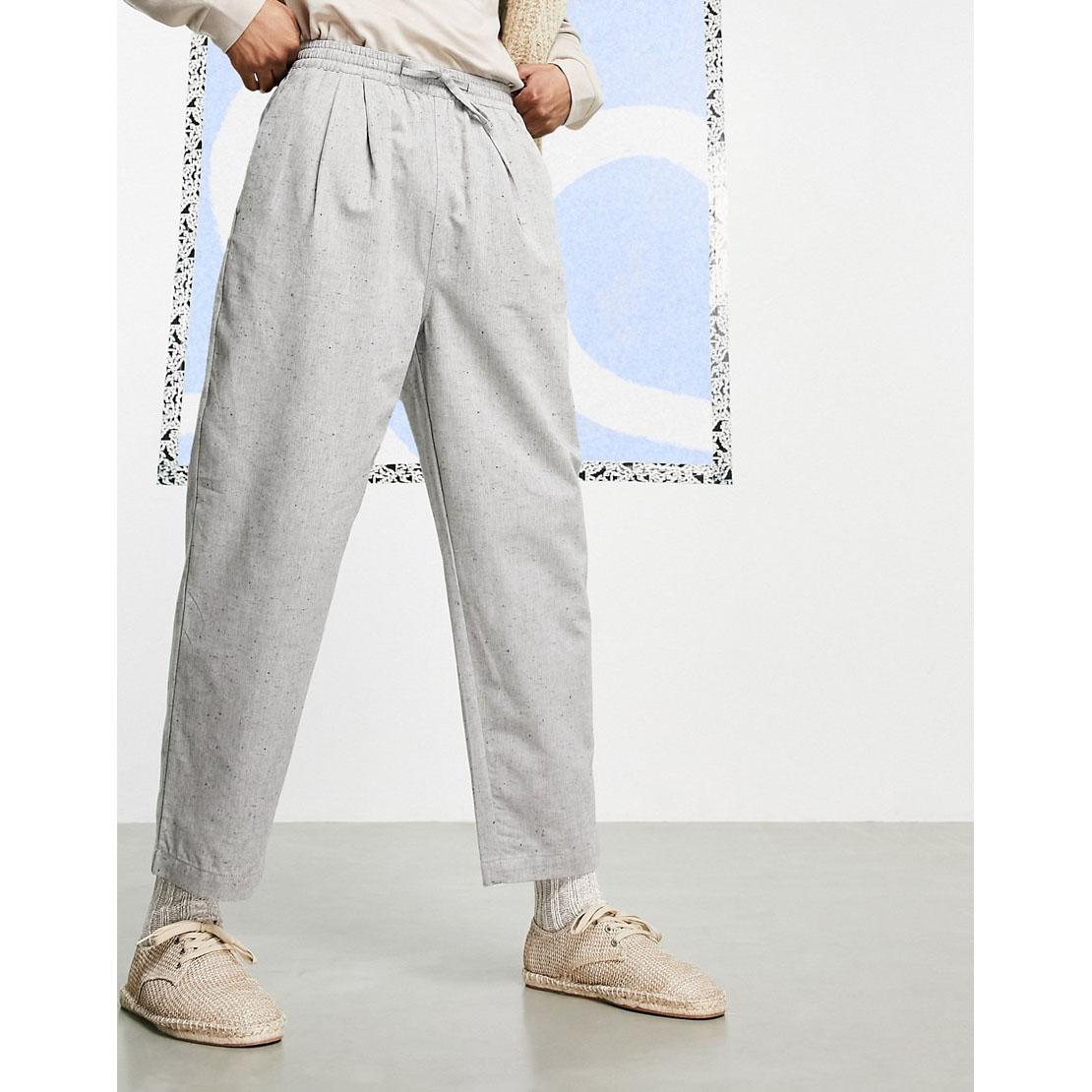 ASOS DESIGN Wide Fit Ankle Grazer Pants