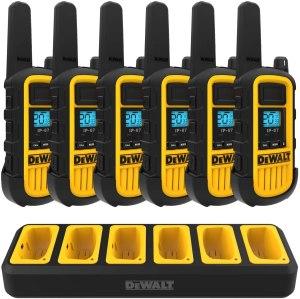 long range walkie talkies dewalt