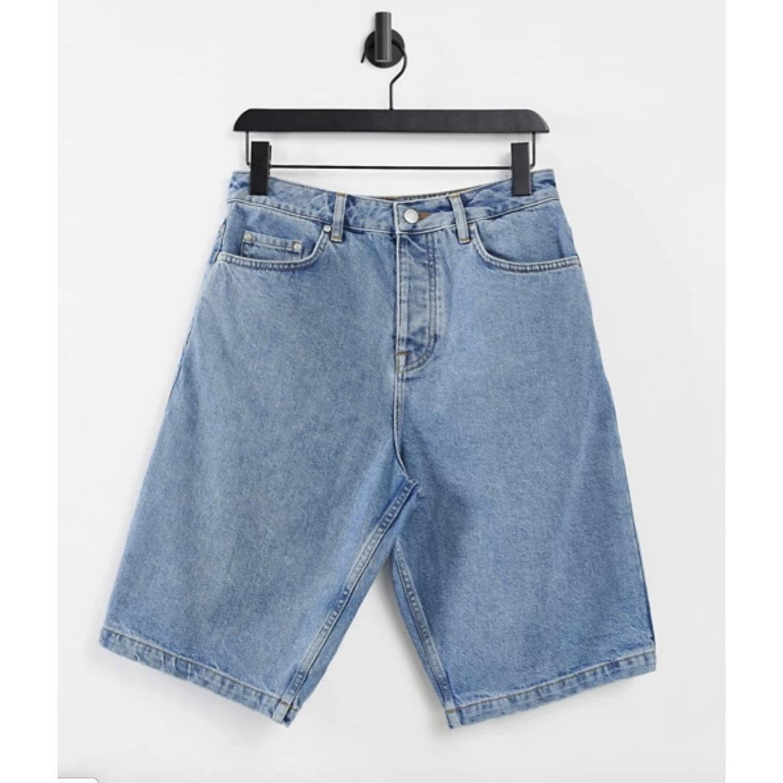 ASOS DESIGN Slim Skater Denim Shorts