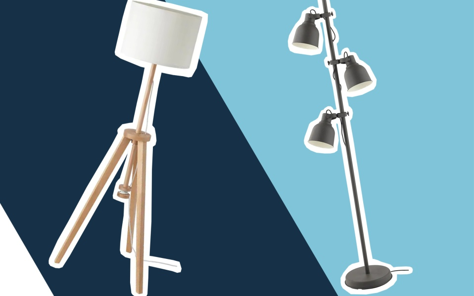 two floor lamps