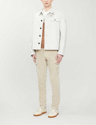 cream eleventy slim cargo pants