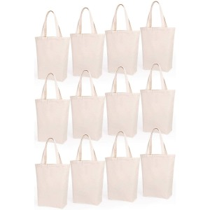 Lily Queen Natural Canvas Tote Bags