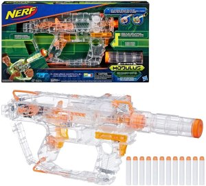 automatic nerf gun - Evader Modulus Nerf Motorized Light-Up Toy Blaster