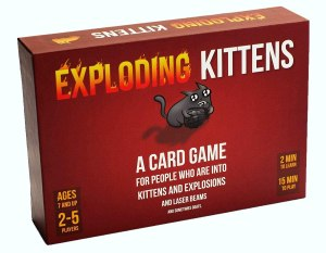 exploding kittens card game, best board games