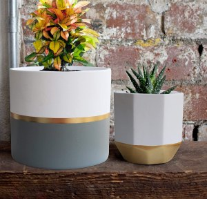 Exquis Home White Ceramic Flower Pot