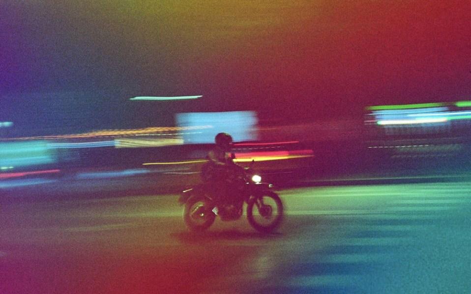 Man Riding Bike Shot on dubble