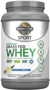 Garden of Life Grass-Fed Whey, best protein powder