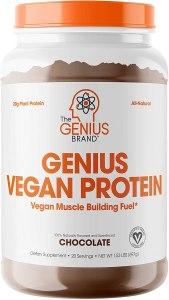Genius vegan protein powder, best vegan protein powder