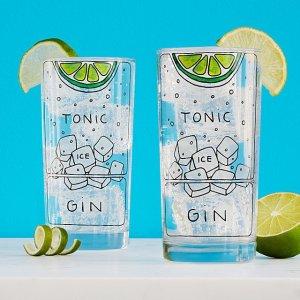 gin and tonic diagram glassware