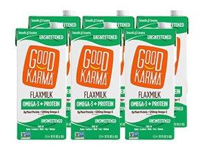 good karma flaxmilk, shelf-stable milk