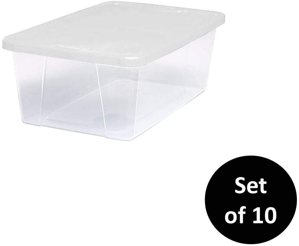 Homz Plastic Storage Bins