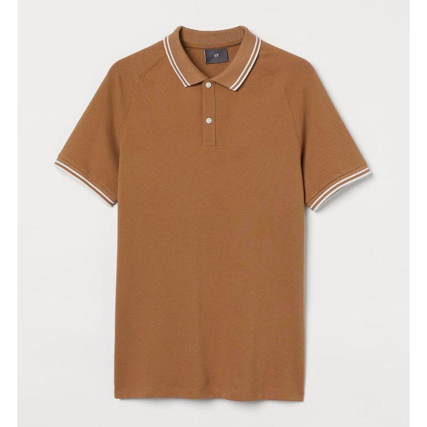 H&M Muscle Fit Piqué Polo Shirt