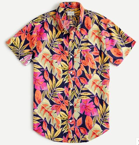 J. Crew floral print hawaiian shirt