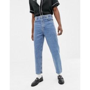 ASOS Design High Waisted Jeans in Vintage Wash Blue