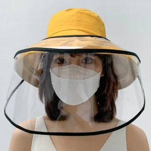 Kalamate Wide Brim Bucket Hat with Face Shield