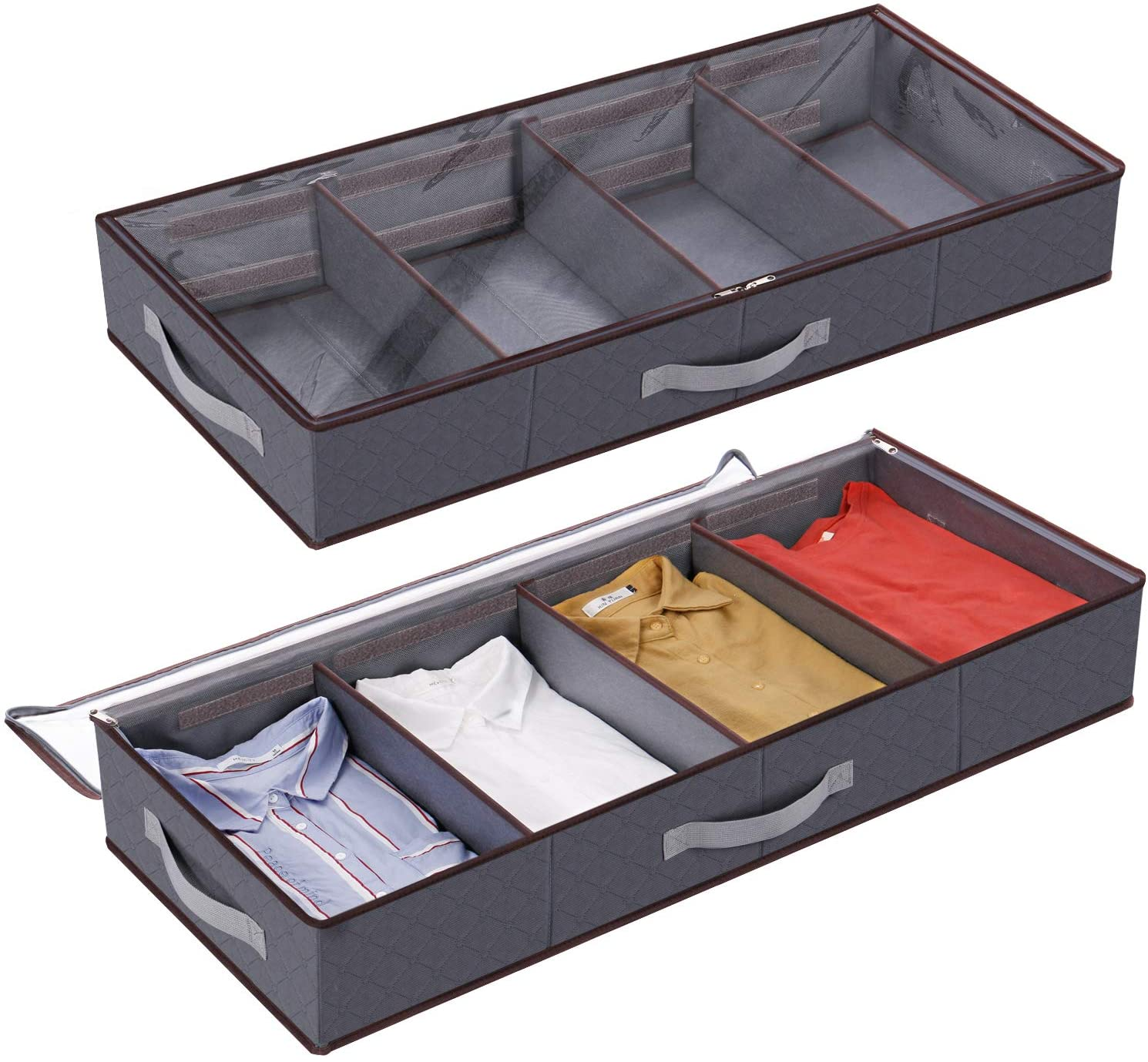 under bed storage hacks - Lifewit under bed clothes organizer