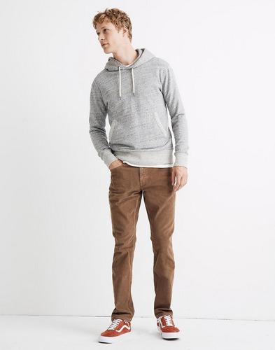 Madewell medium brown straight corduroy jeans