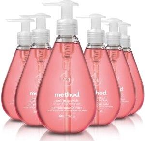 method hand soap, antibacterial hand soap