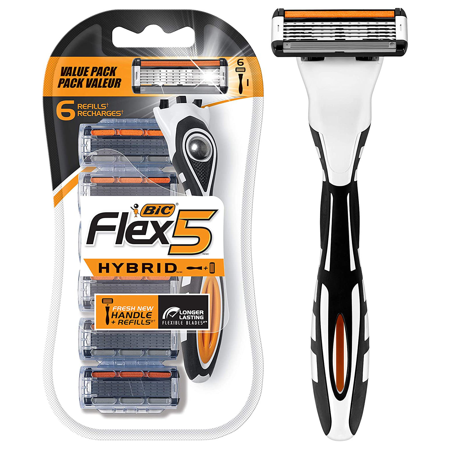 BIC Flex 5 Hybrid Men's 5-Blade Disposable Razor