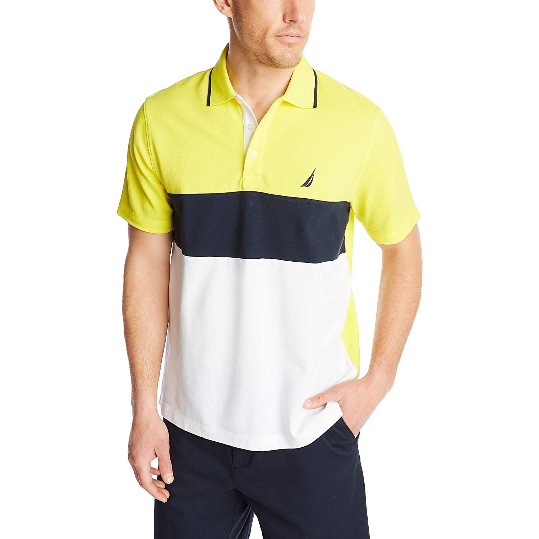 Nautica Short Sleeve Color Block Polo Shirt