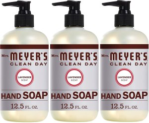 mrs meyers lavender hand soap, antibacterial hand soap