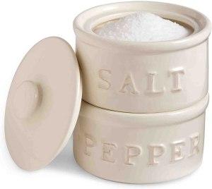 Mud Pie salt and pepper cellar, salt cellar