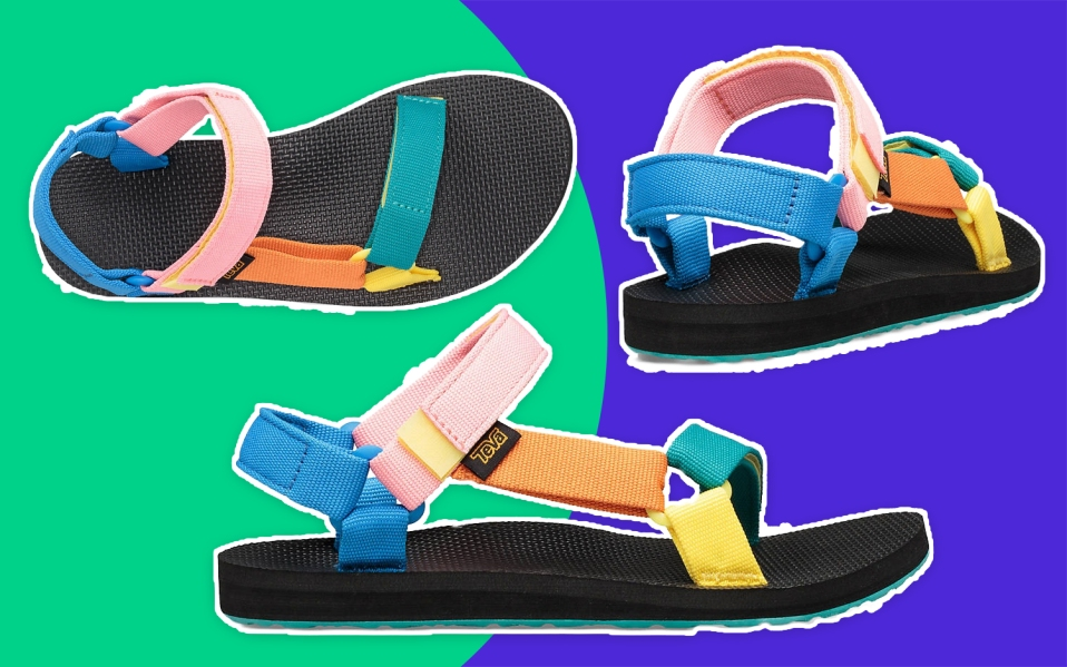 multicolor teva sandal
