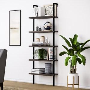 nathan james ladder bookcase, best ladder bookcase