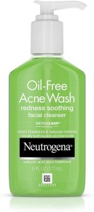 neutrogena acne face wash, benefits of aloe vera
