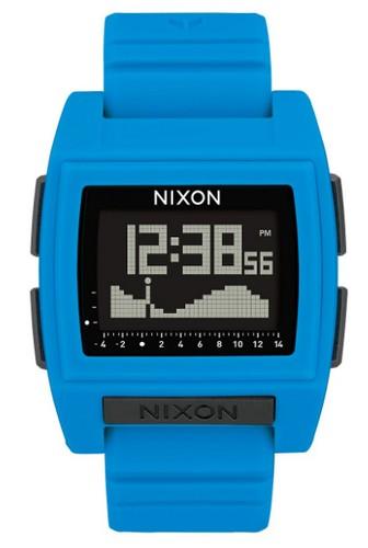 Nixon blue smartwatch that tells tides