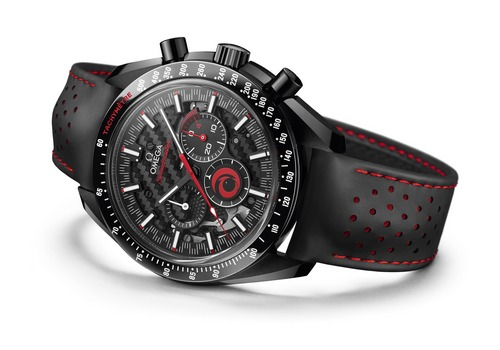 omega dark side of the moon alinghi black and red chronograph