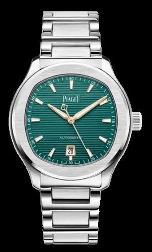 Piaget polo watch green face steel body