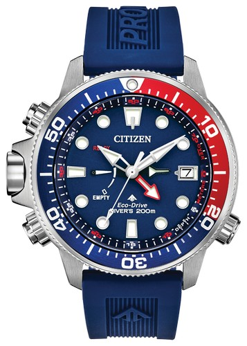 Citizen promaster aqualand blue and white diver watch