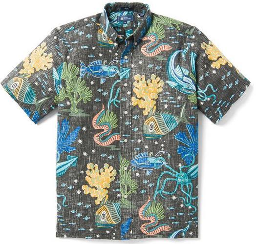reyn spooner deep sea jive ocean themed hawaiian shirt