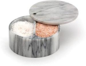 RSVP international dual compartment salt cellar
