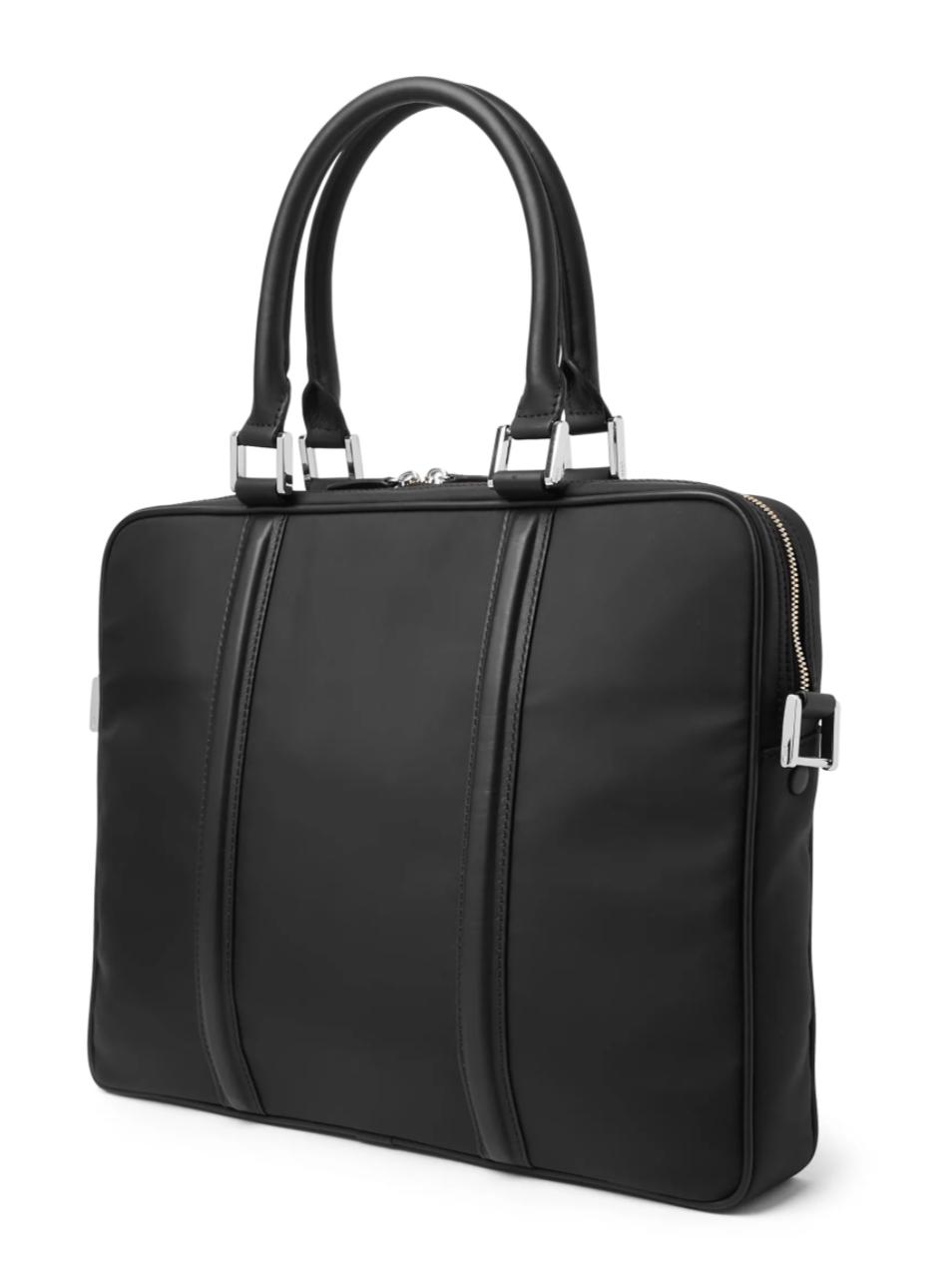 best work bags for men - black nylon briefcase