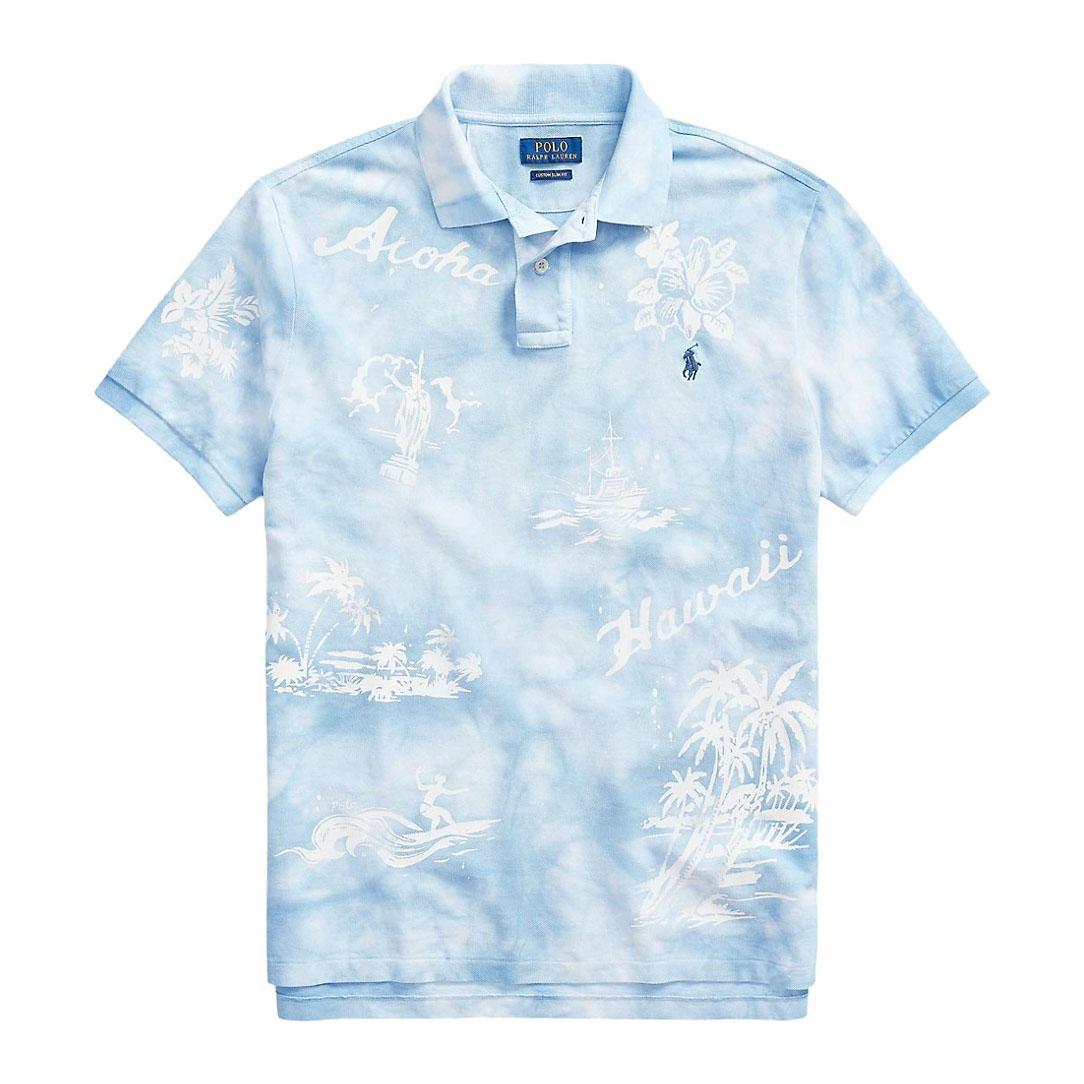 Polo Ralph Lauren Custom Slim-Fit Basic Mesh Hawaii Tie-Dye Polo