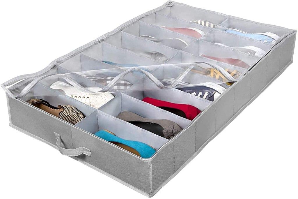 under bed shoe organizer