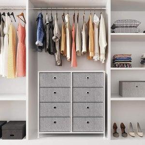songmics 4-tier storage dresser, how to organize a closet
