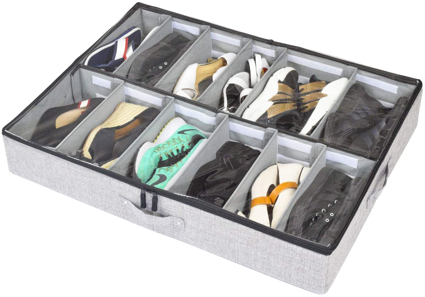 StorageLAB under bed shoe storage organizer