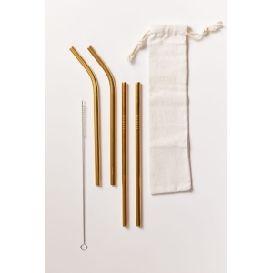 Stainless Steel Reusable Straw Set - best eco-friendly gift for teens