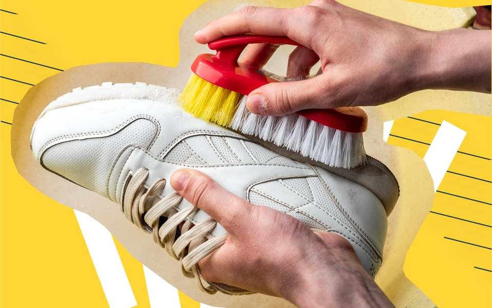 cleaning white shoes