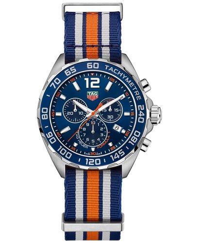 Tag Heuer orange stripe NATO band chronograph