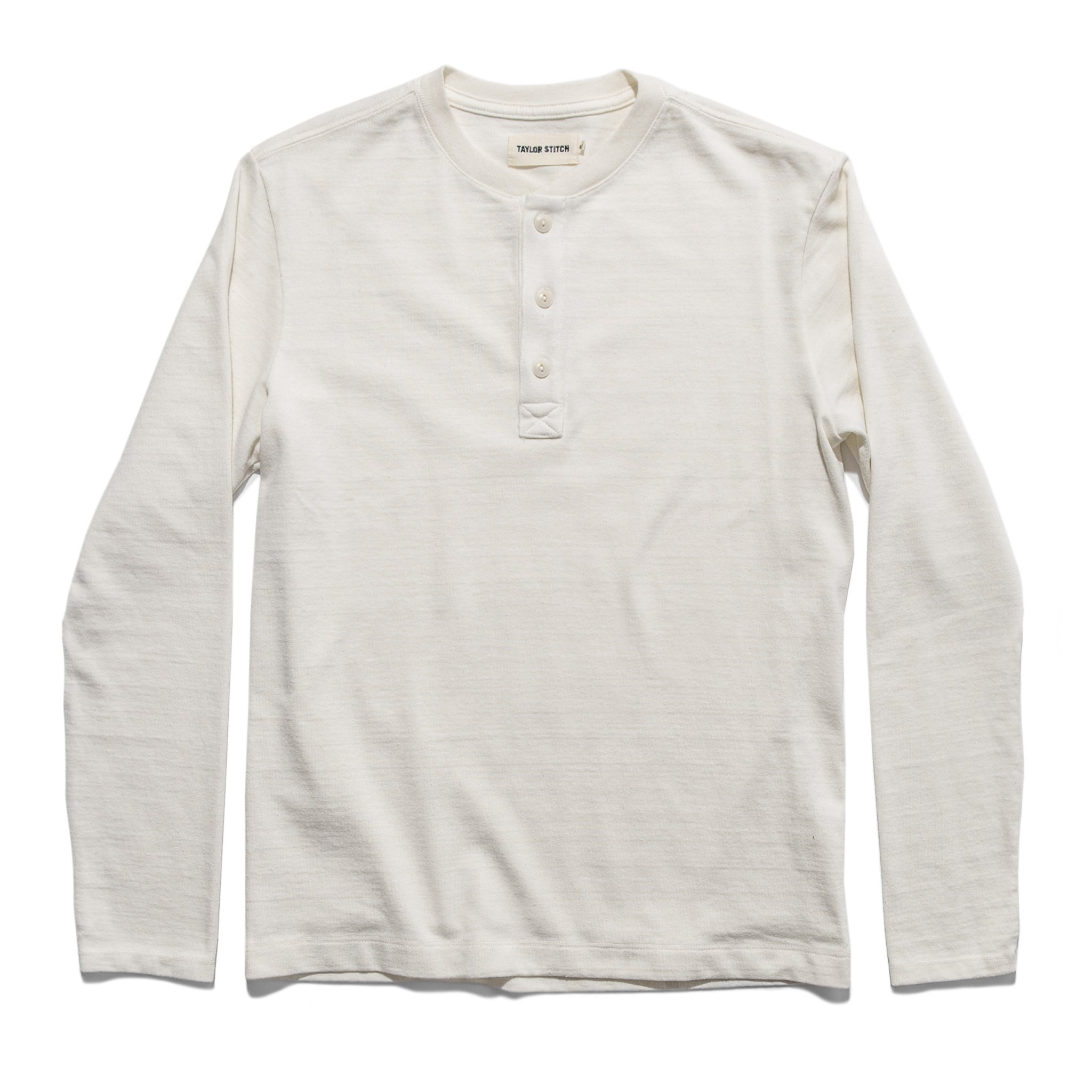Taylor stitch heavy bag henley shirt in natural color