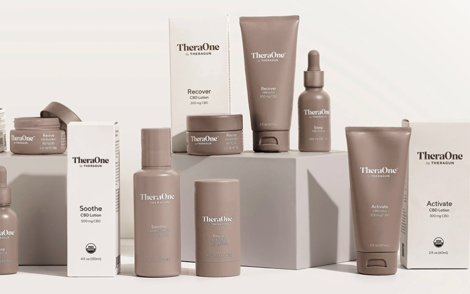 theraone cbd products by therabody