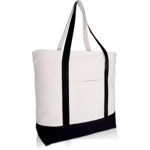"""DALIX 22"""" Heavy Duty Cotton Canvas Tote Bag"""
